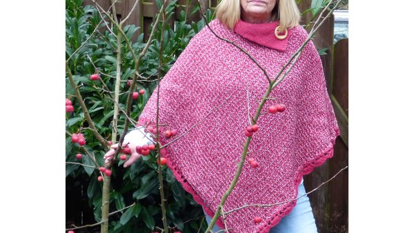 Poncho Rot /Rose